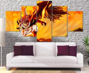 Décoration Murale Fairy Tail Natsu Transformation