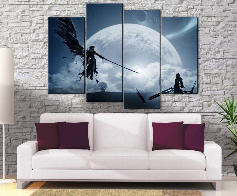 Décoration murale Final Fantasy 7 Cloud Vs Sephiroth