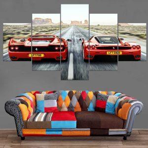 Décoration Murale Voiture Double Ferrari