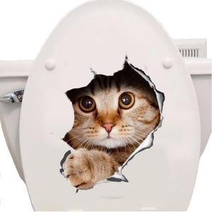Sticker WC Chiens et Chats 3D