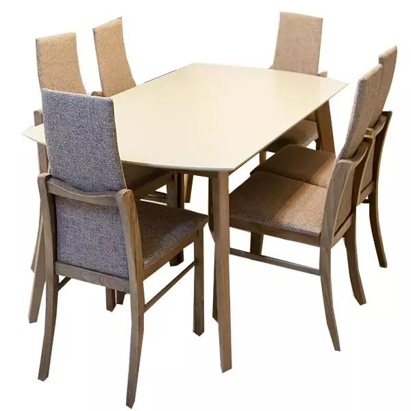 table de cuisine linda avec 6 chaises capitonne 150 80