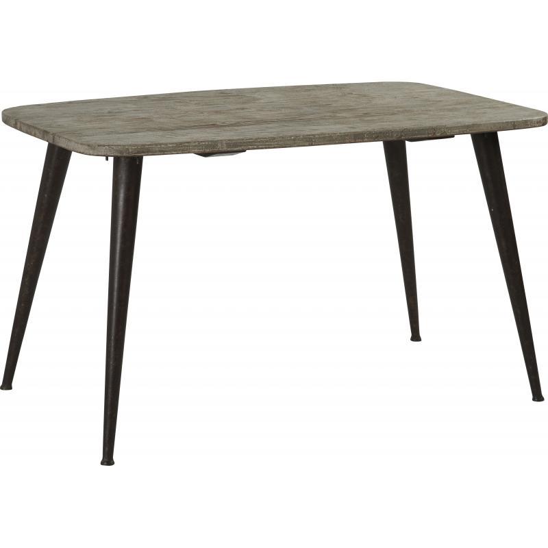 Mesa industrial madera y metal