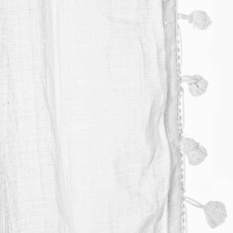 Cortina visillo en algodn blanca