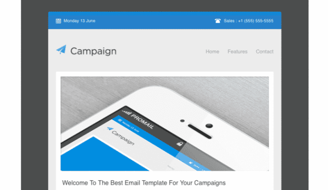 Campaigner email template
