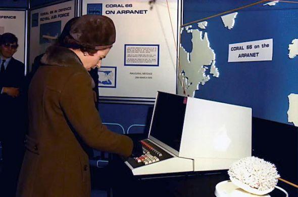 Queen Elizabeth Email Computer