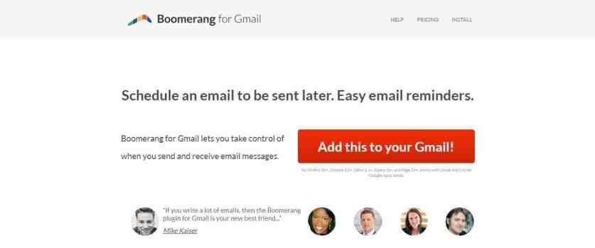 Boomerang : Logiciel de suivi de mails pour Gmail et Outlook