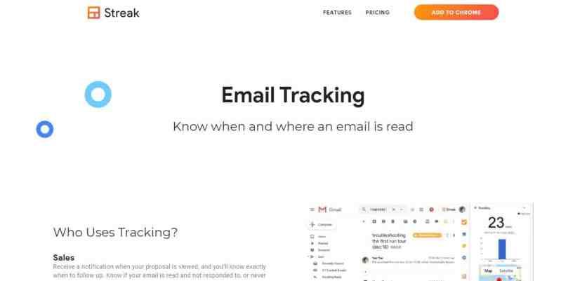 Streak : Le traçage des emails simple