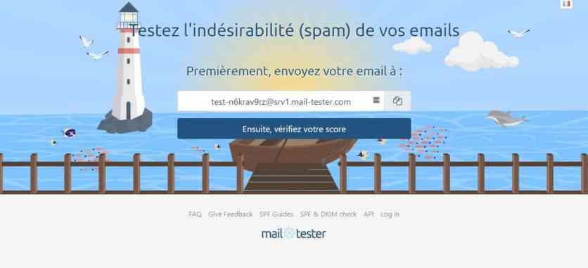 Page d'accueil de Mail-Tester