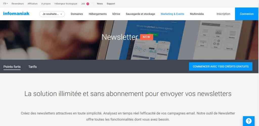 Newsletter Infomaniak