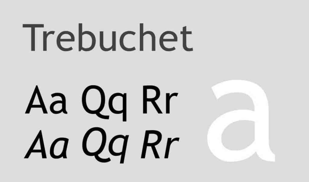 Trebuchet MS