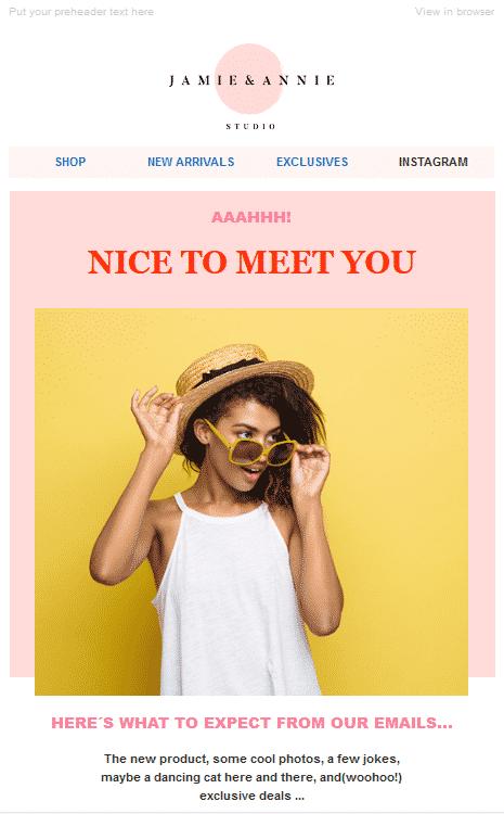 Mail de bienvenu 1 (Les 10 meilleurs Modèles gratuits de Newsletter en 2020)