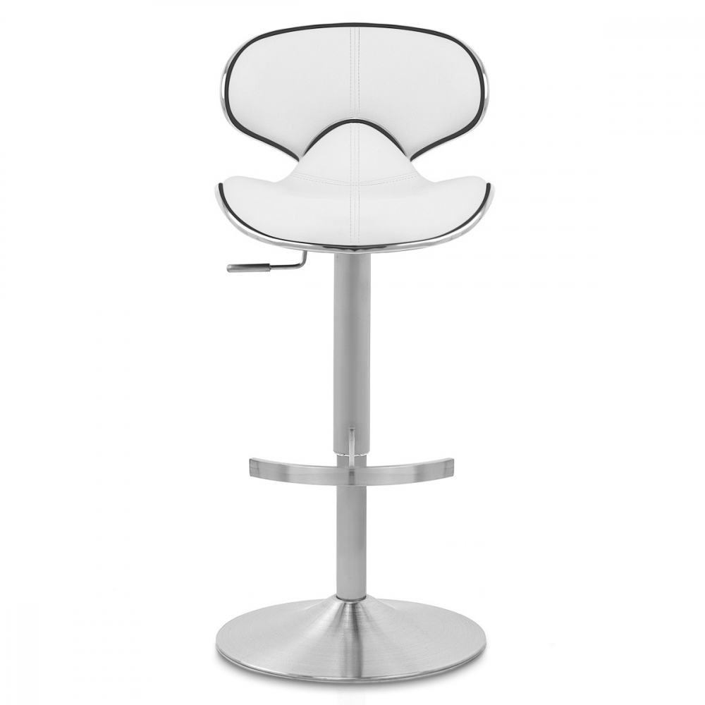 chaise de bar cuir chrome félix deluxe
