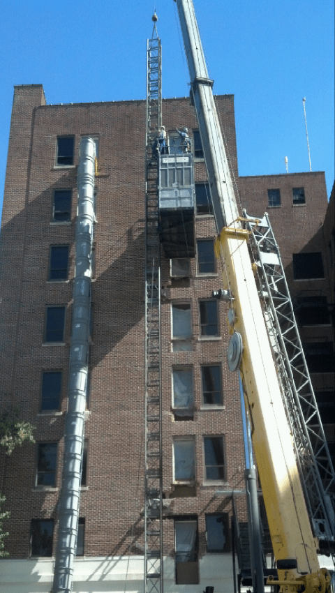 Buck Hoist  Bossier City Louisiana  Mondello Scaffolding  Shoring