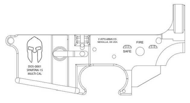 Ar 15 Lower Receiver Blueprint Sketch Coloring Page