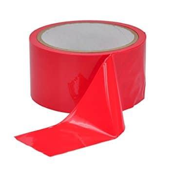 bondage tape rouge