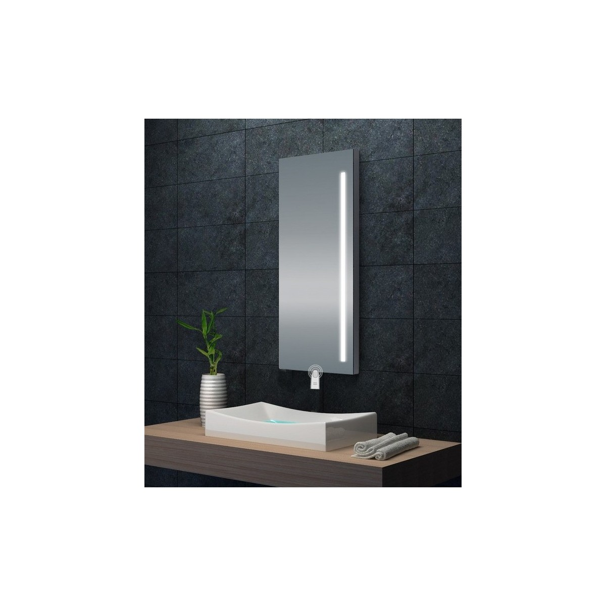 Miroir Avec Eclairage Led Integre Touch Moonlight 2 0
