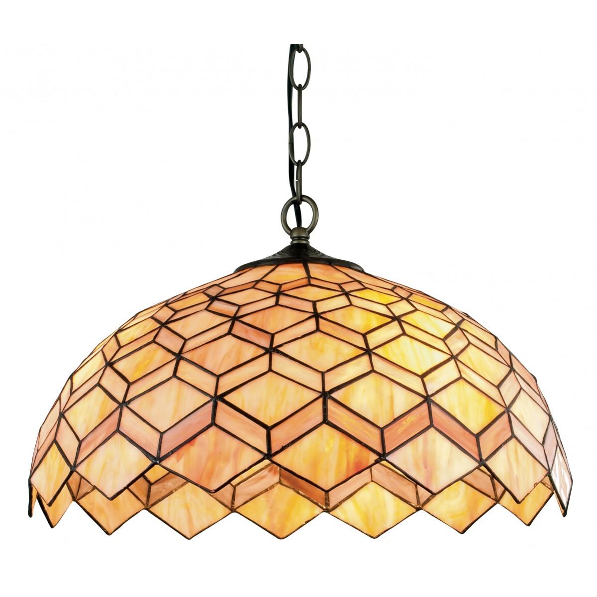 Lampadari tiffany in vetro colorato ⭐ 560 000 pz di lampade in magazzino. Lampadario Sospeso Classico Metallo Paralume Vetro Colorato Decoro Geometrico E27