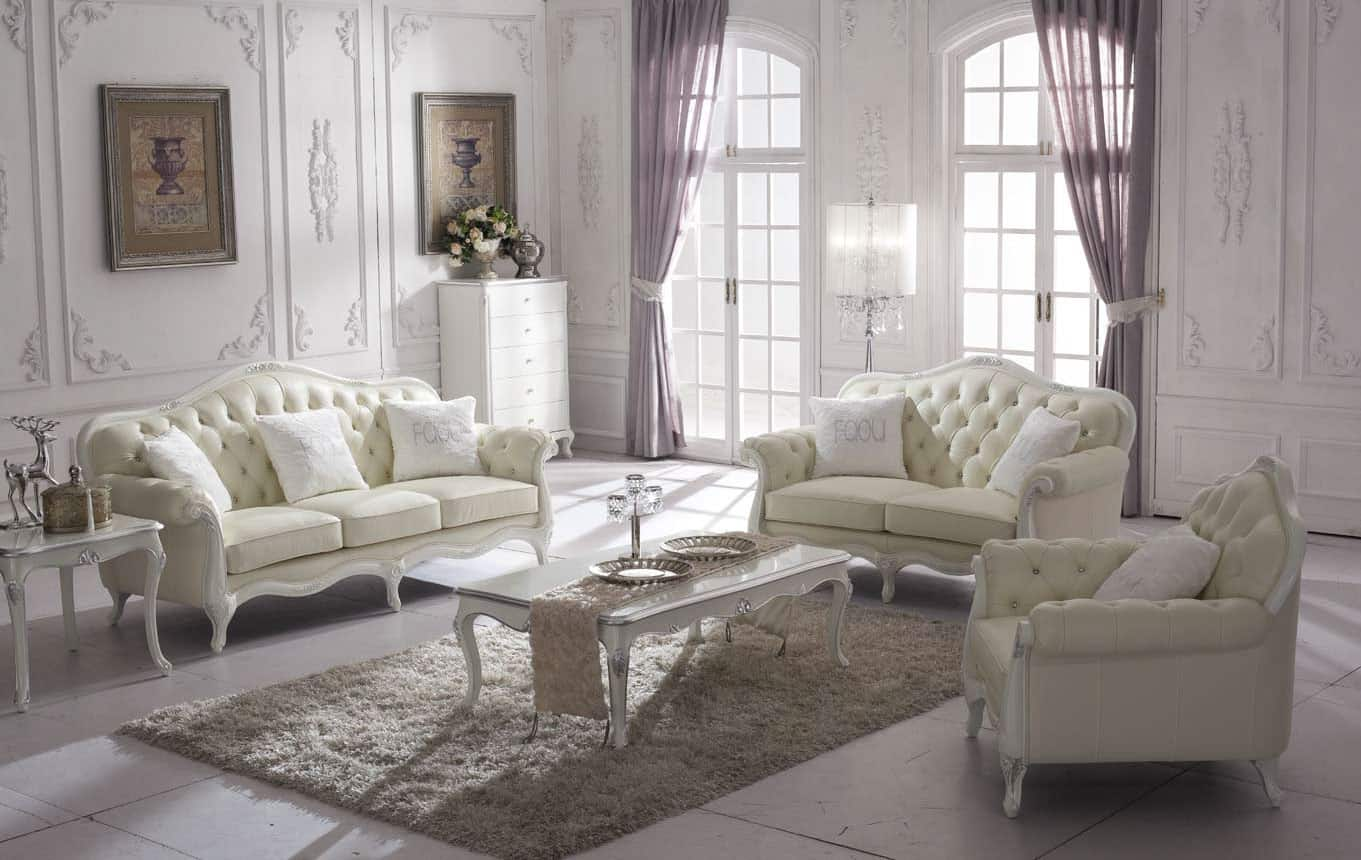 Crystal Classic Sofa 2 Seater Sofa Armchair Side