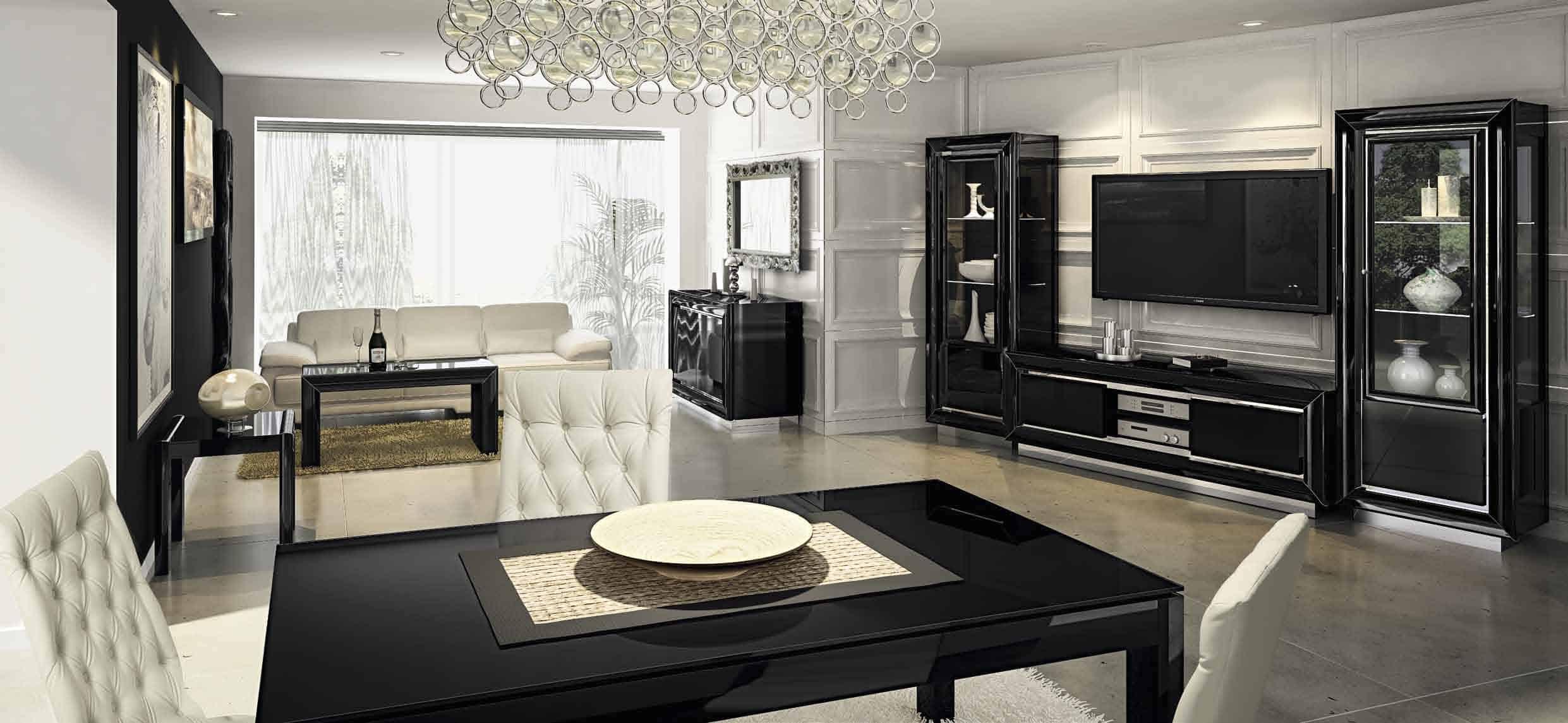 black high gloss living room furniture gaming pc reddit la star contemporary modern italian in lastar dining