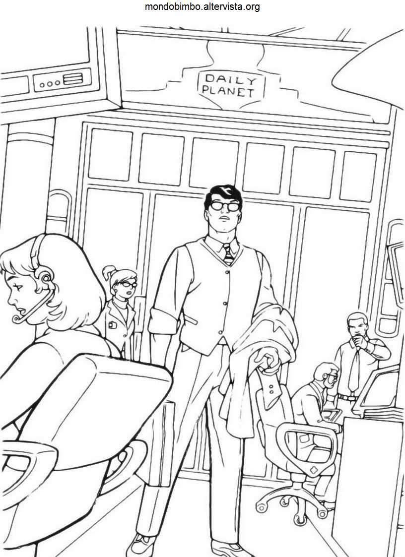 Superman da colorare — Mondo Bimbo