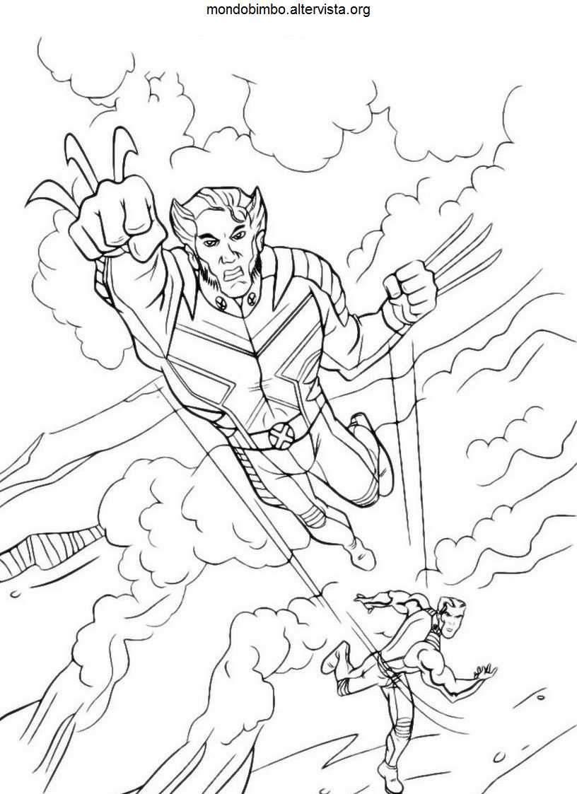 X-Men da colorare — Mondo Bimbo