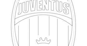 Disegno logo della Juventus da colorare — Mondo Bimbo