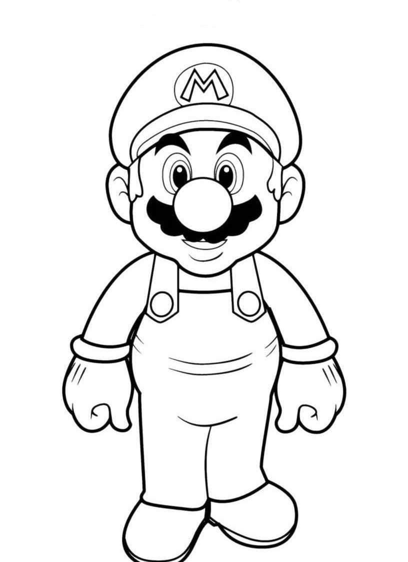 Super Mario Bros da colorare — Mondo Bimbo