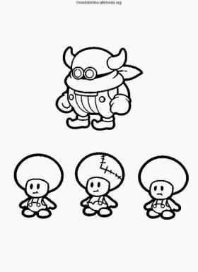 Super Paper Mario da colorare — Mondo Bimbo