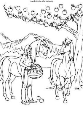 Spirit cavallo selvaggio disegni da colorare — Mondo Bimbo