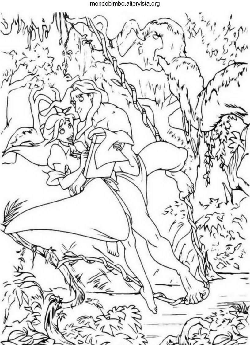 Tarzan da colorare  Mondo Bimbo