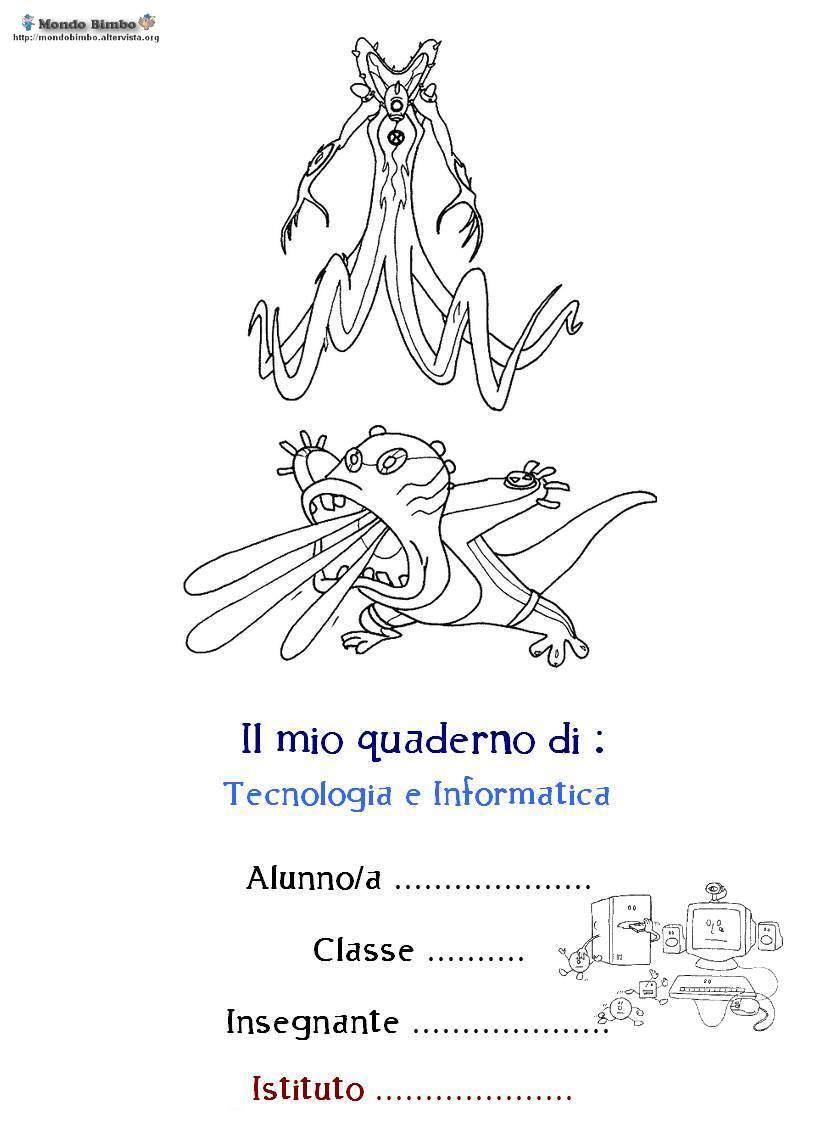 Copertina quaderno Ben 10 di Tecnologia e Informatica da