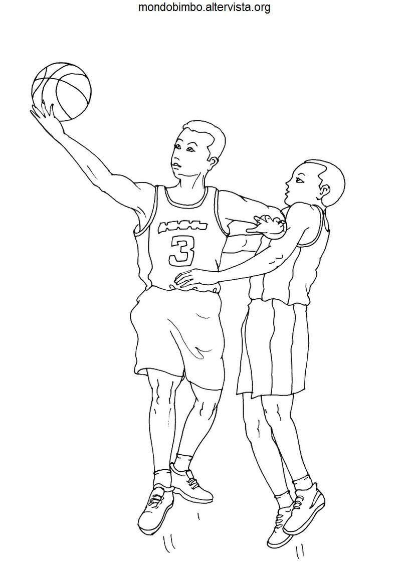Basket da colorare  Mondo Bimbo