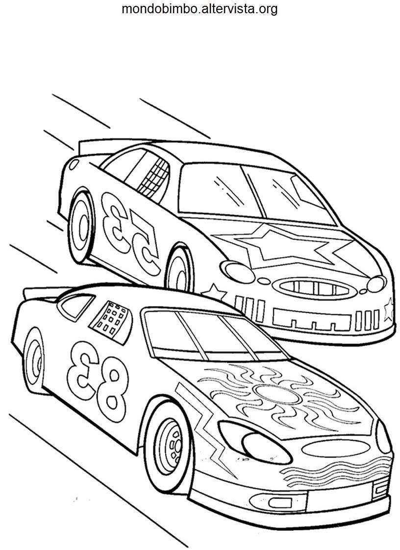 Macchine da corsa disegni da colorare — Mondo Bimbo