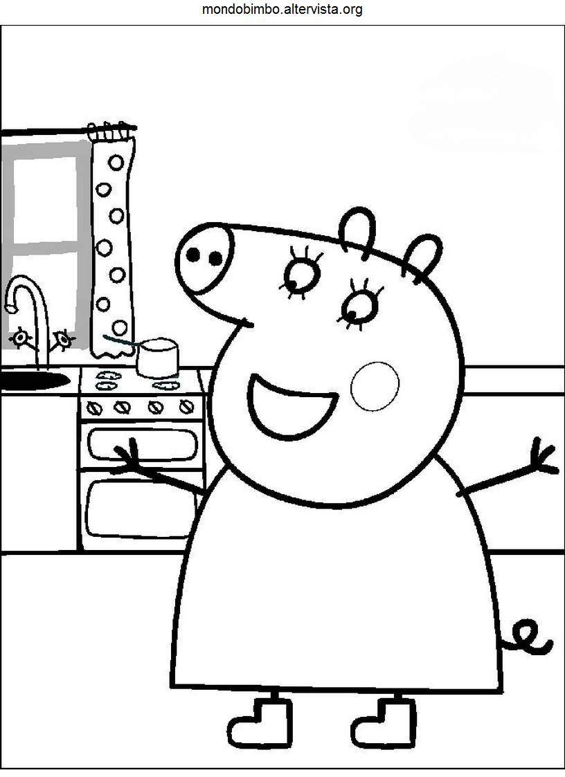 Peppa Pig da colorare — Mondo Bimbo