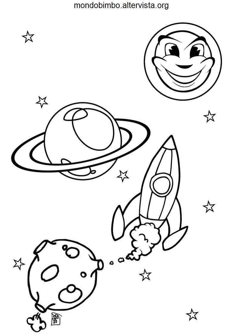 Astronavi da colorare — Mondo Bimbo