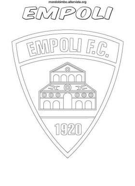 Logo della squadra dell Empoli da colorare  Mondo Bimbo