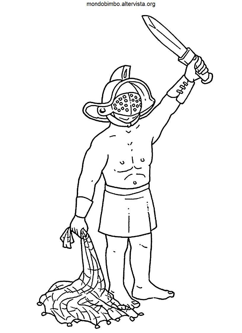 Gladiator Coloring Coloring Pages