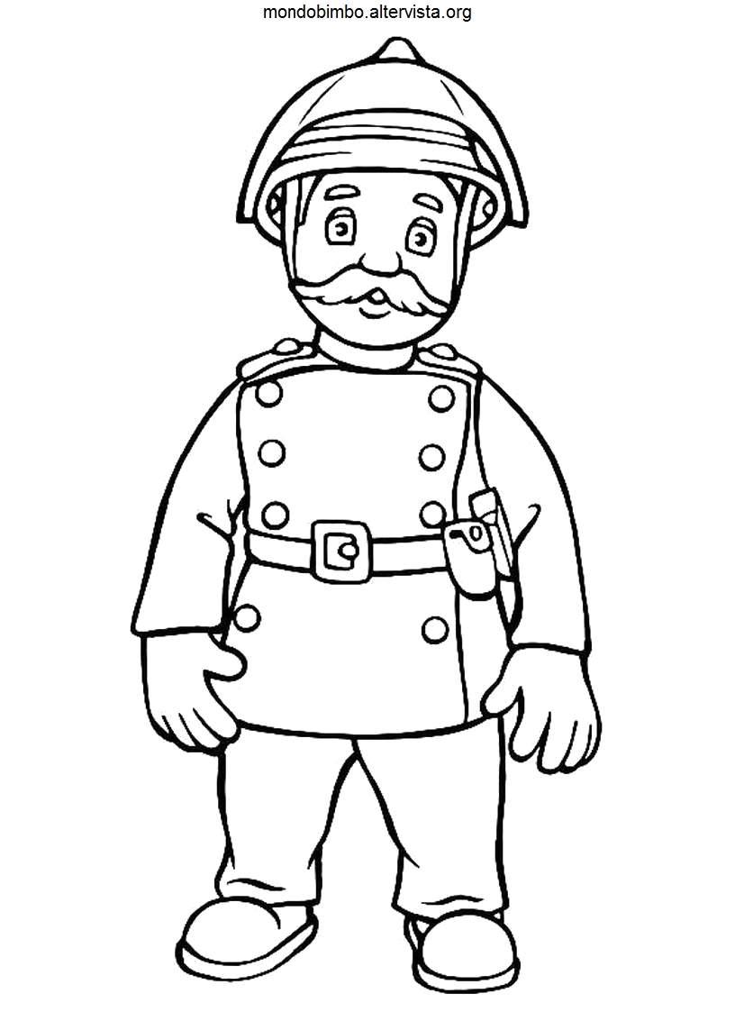 Sam il pompiere da colorare  Mondo Bimbo
