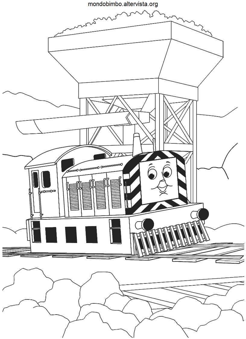 Trenino Thomas da colorare — Mondo Bimbo