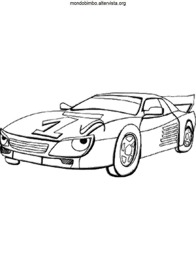 Disegni Macchine da corsa da colorare — Mondo Bimbo