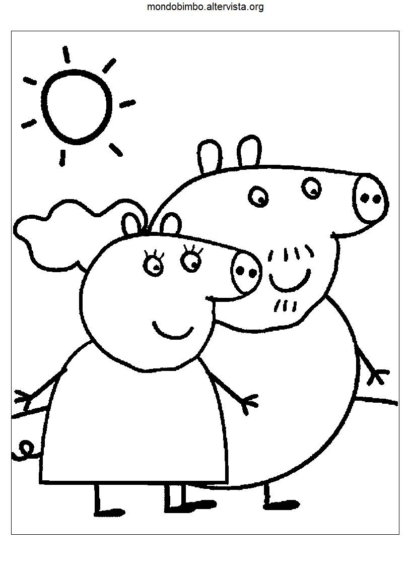 Coloriamo i disegni di Peppa Pig — Mondo Bimbo