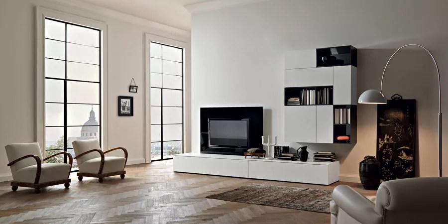 Configura e personalizza una zona. Pareti Attrezzate Moderne 100 Idee Di Design Per Arredare Casa Mondodesign It