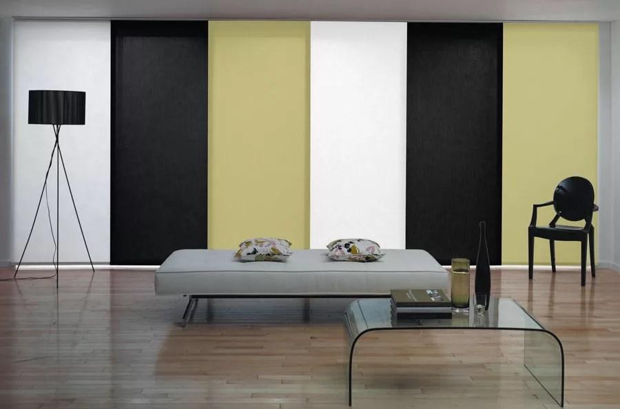 Salotto bianco e nero 15 di 40. 111 Esempi Di Tende A Pannello Moderne Per Interni Mondodesign It