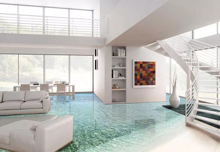 20 Spettacolari Pavimenti 3D Decorativi per Interni