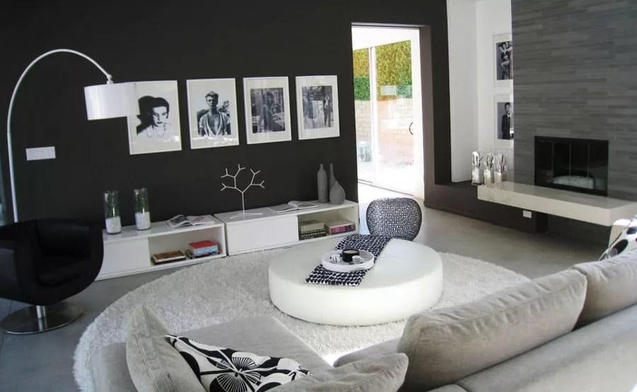 20 Idee di Design per Arredare il Soggiorno in Bianco e Nero  MondoDesignit