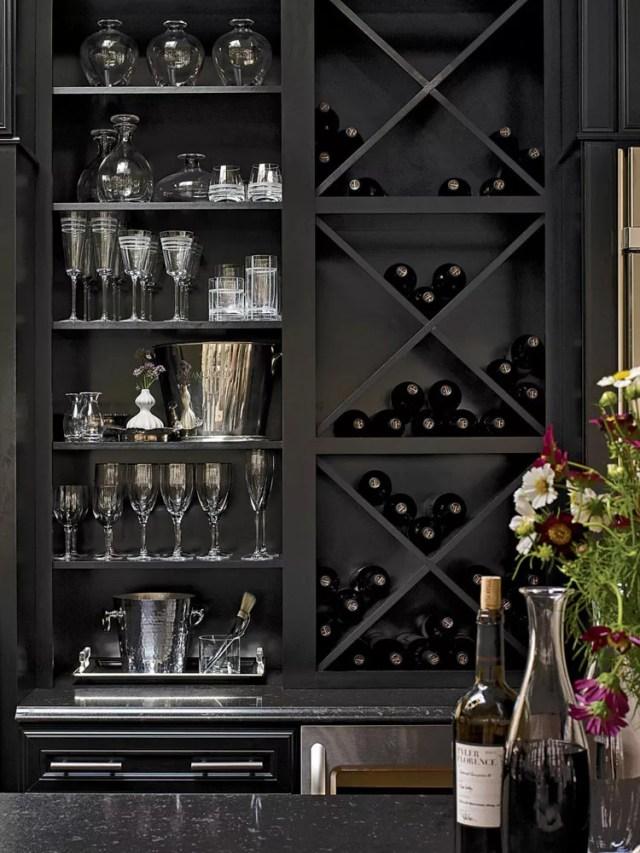 Patrón de soportes para botellas de vino n.04 Wall
