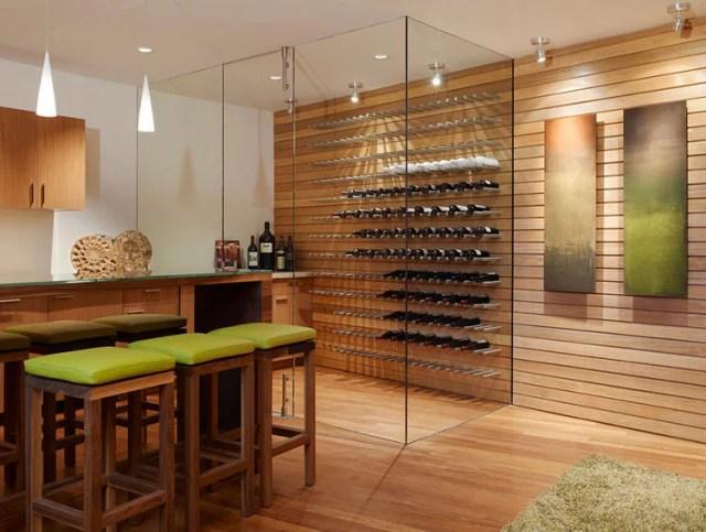 Patrón de soportes para botellas de vino N.09 pared