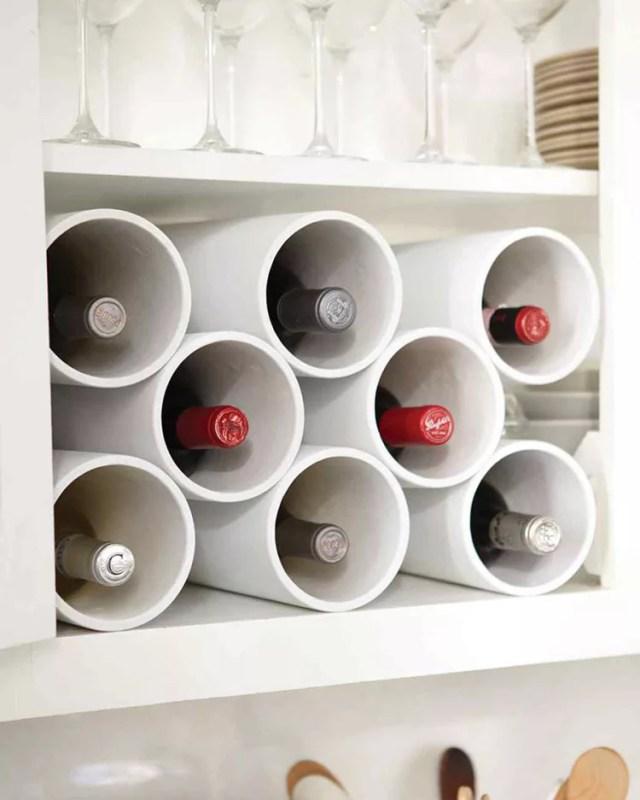 Patrón de soportes para botellas de vino 10 de pared