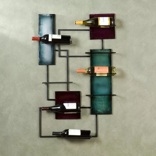 Patrón de soportes para botellas de vino 12 de pared