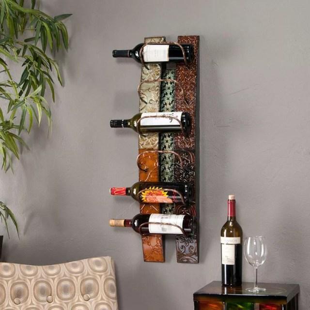 Patrón de soportes para botellas de vino 13 de pared